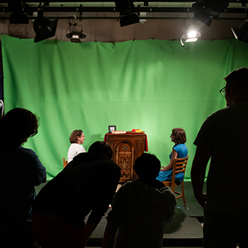 Students in the studio